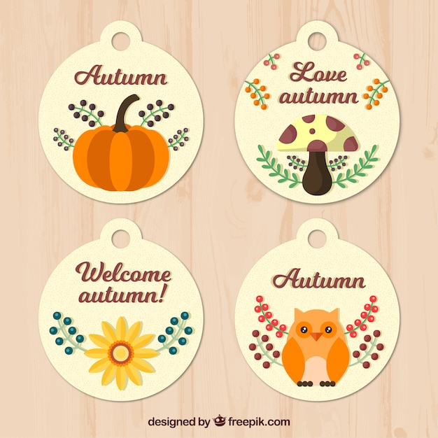 Lovely collection of cute autumnal labels