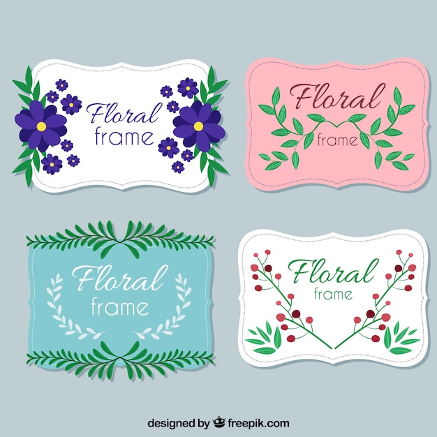 Lovely collection of cute floral frames