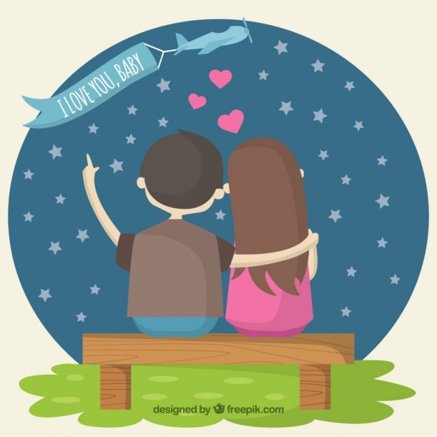 Lovely Couple Free Vector