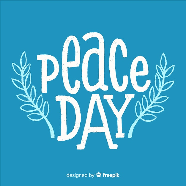 Lovely day of peace composition with cute lettering Vector