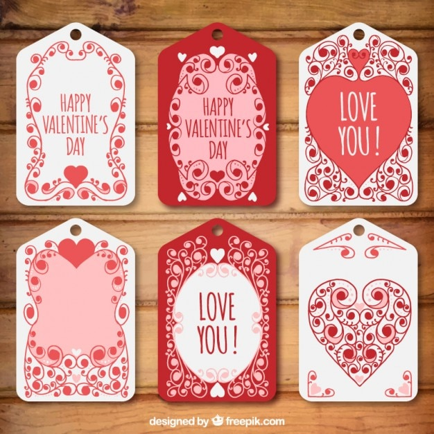 Lovely decorative valentine day tags\ pack