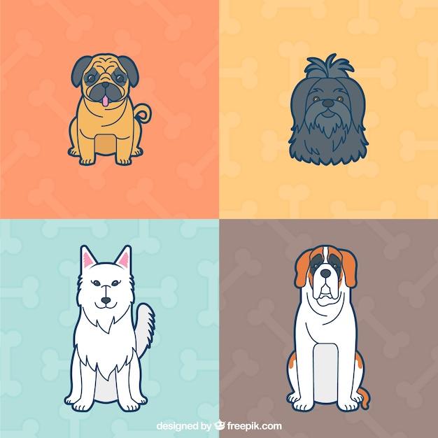 Lovely dogs illustration