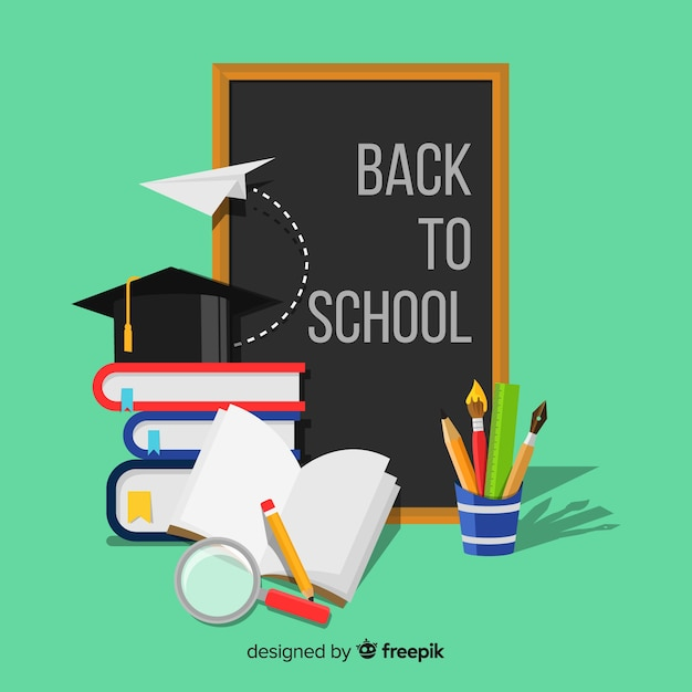 Lovely education concept with flat design Free Vector