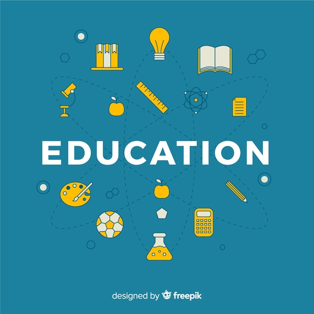 Lovely education concept with flat\ design