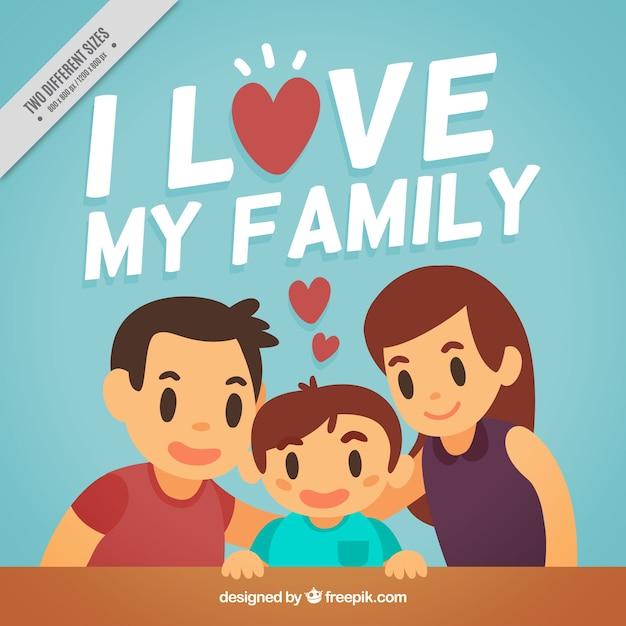 Lovely family background