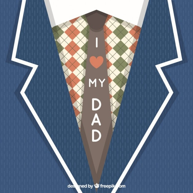 lovely father s day card with suit