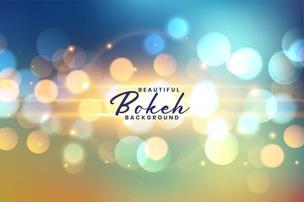 Lovely festive bokeh lights background Free Vector