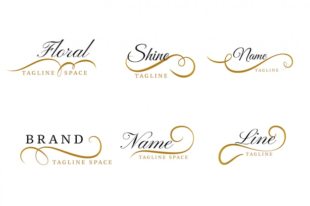 Lovely floral ornamental logos collection design set Free Vector