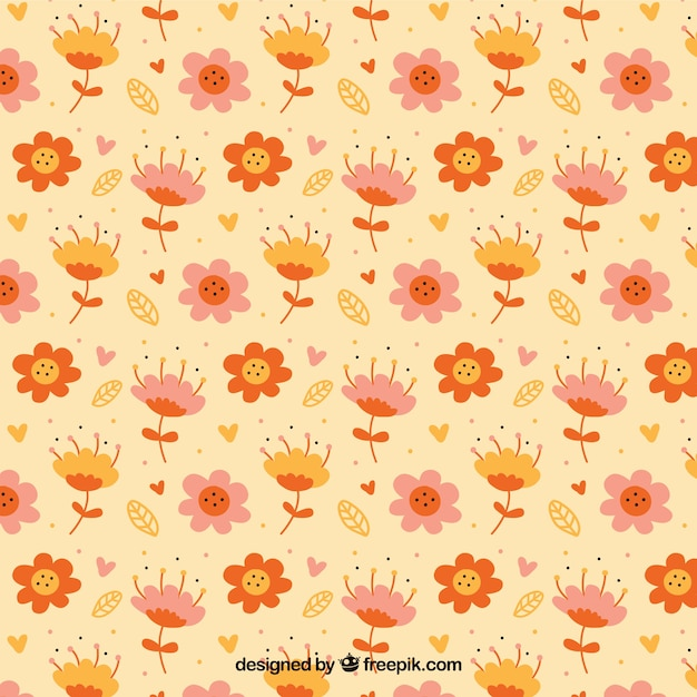 Lovely floral pattern Free Vector