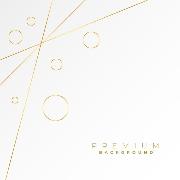 사랑스러운 황금 선과 흰색 바탕에 동그라미 무료 벡터