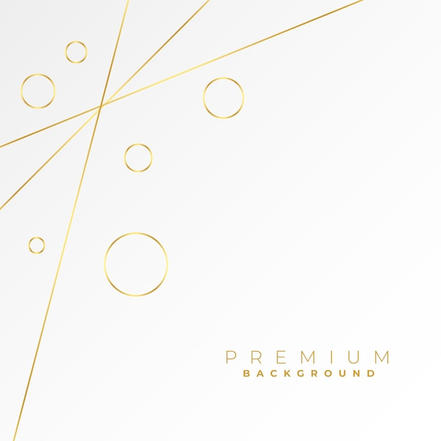 Lovely golden lines and circles on white background Free Vector