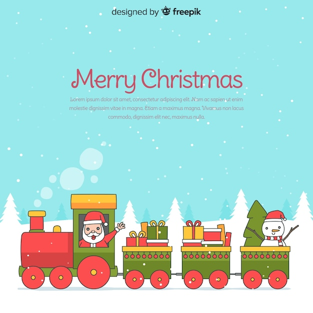 Lovely hand drawn christmas composition Free Vector