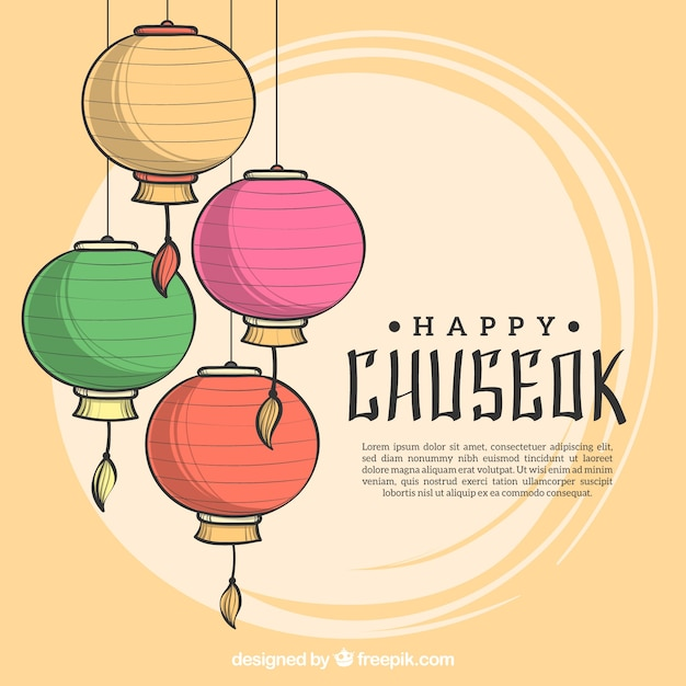 Lovely hand drawn chuseok composition Free Vector