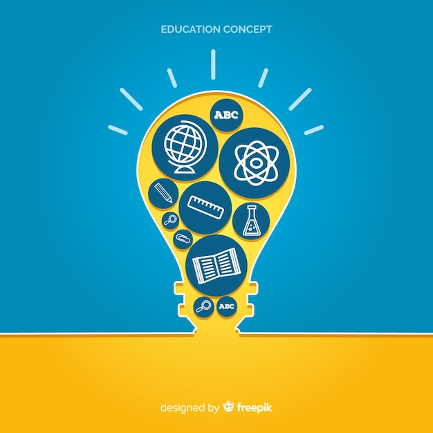 Lovely hand drawn education concept Free Vector