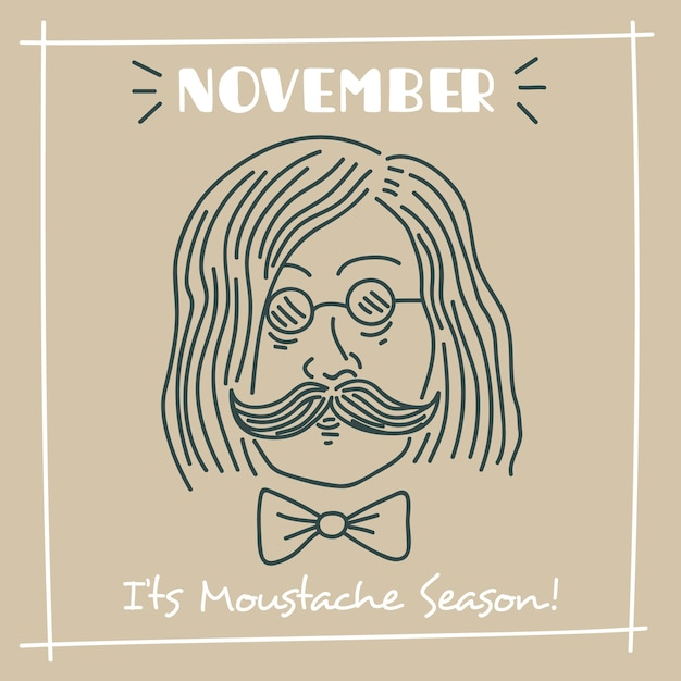 Lovely hand drawn movember composition Free Vector