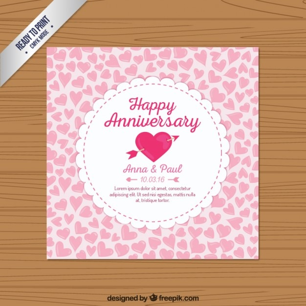 Lovely happy anniversary card Vector | Free Download