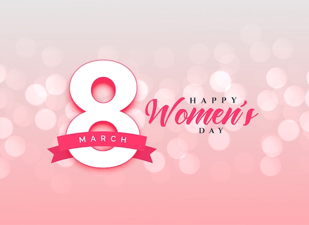 Lovely happy women's day celebration card design background Free Vector
