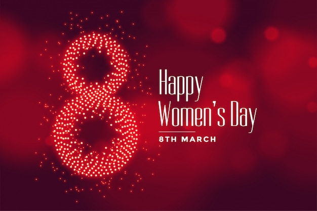 Lovely happy womens day wishes card Free Vector
