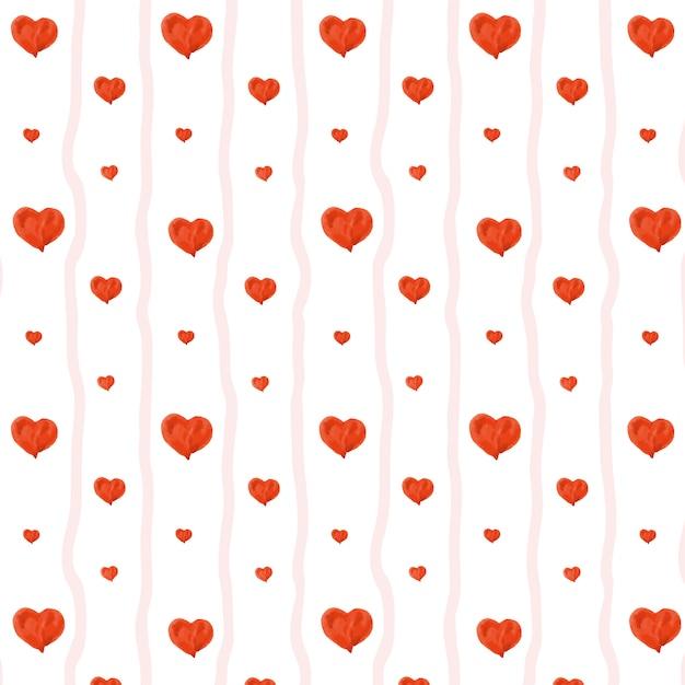 Lovely heart seamless pattern Premium Vector