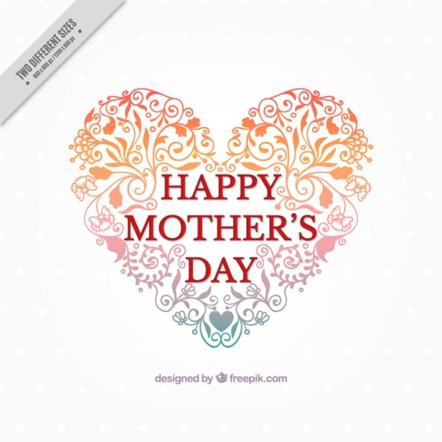 Lovely heart shape mother\'s day\ background
