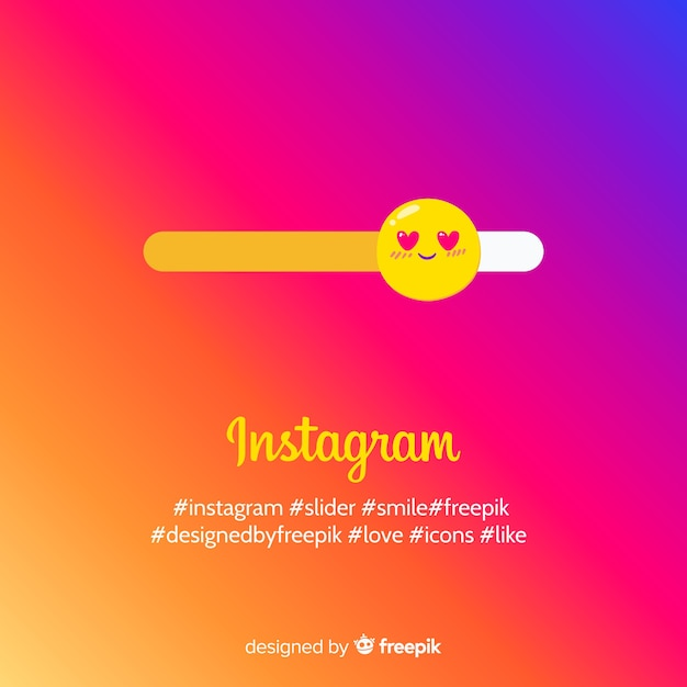 Lovely instagram composition Free Vector