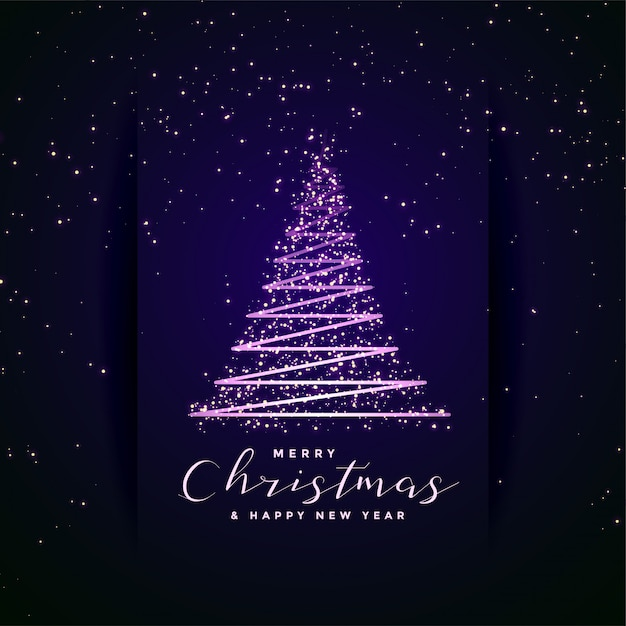 Lovely merry christmas festival tree creative Free Vector