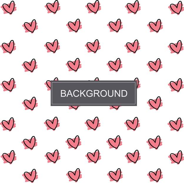 Lovely Mini Pink Heart Premium Vector