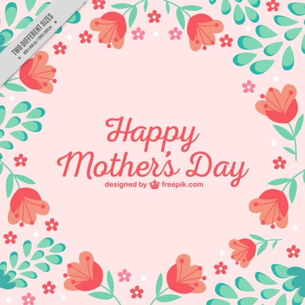 Lovely Mother\'s Day background with\ tulips