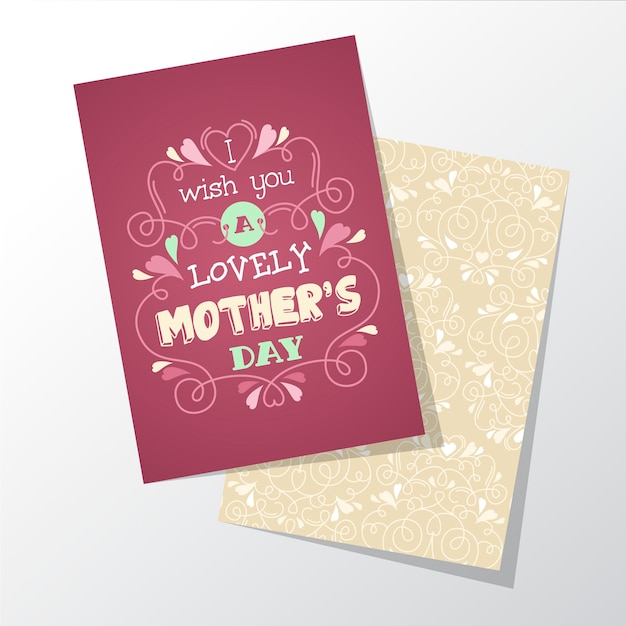 Lovely mothers day greeting card vector free download lovely mothers day greeting card free vector m4hsunfo