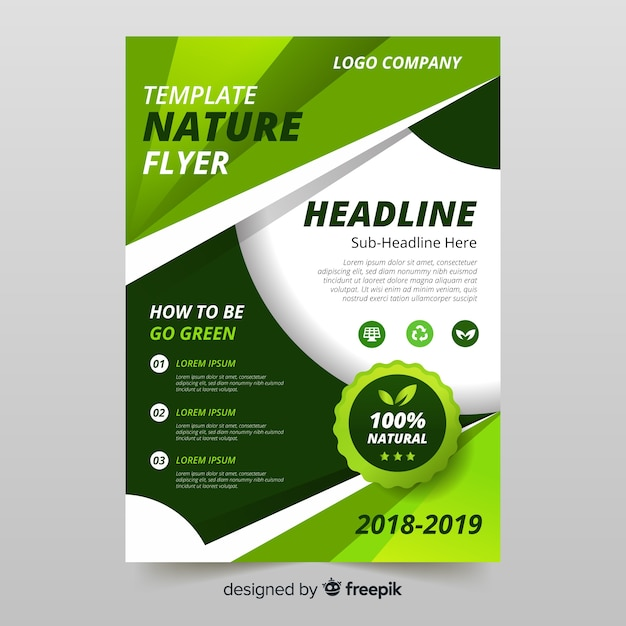 Lovely nature flyer template Free Vector