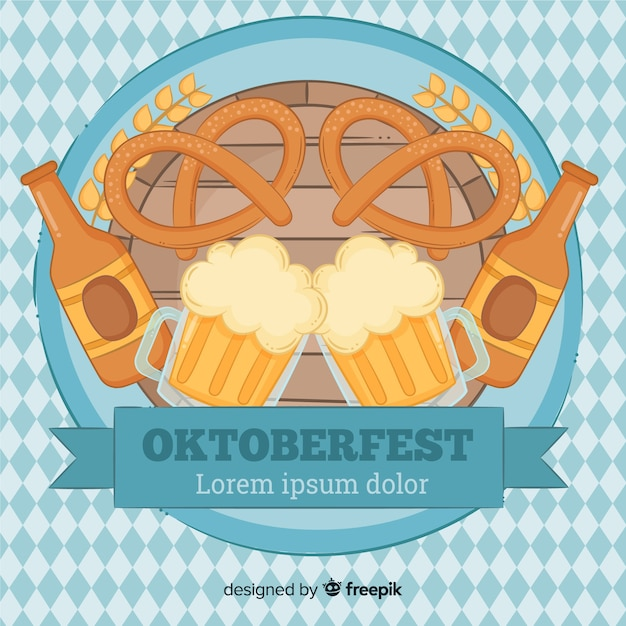 Lovely oktoberfest composition Free Vector