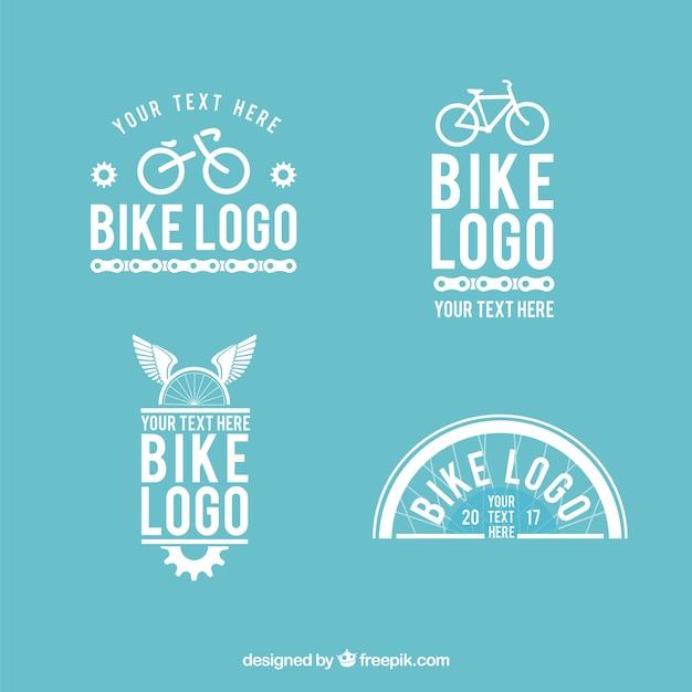 Lovely pack of bike logos Free Vector