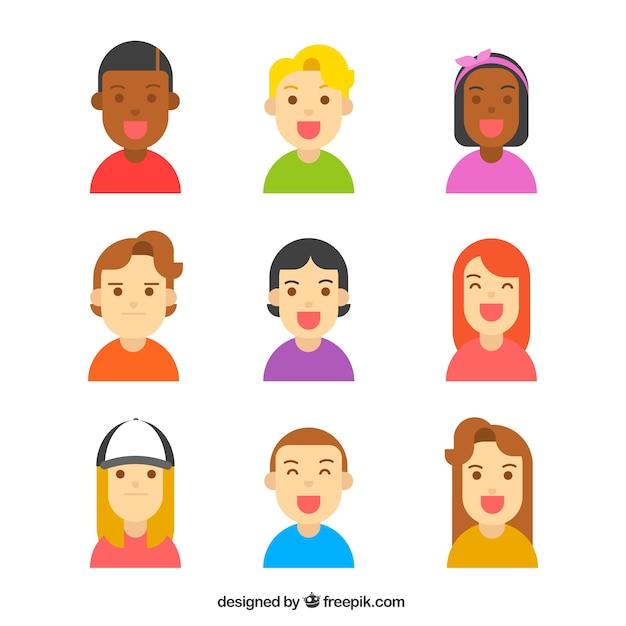 Lovely pack of flat avatars