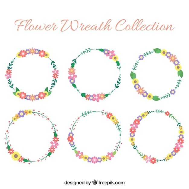 Lovely pack of flat floral wreaths