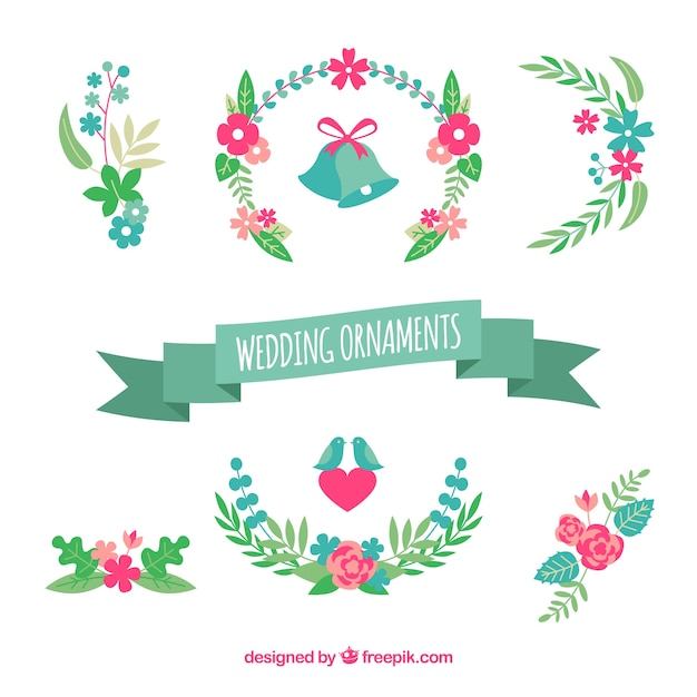 Lovely pack of flat wedding ornaments