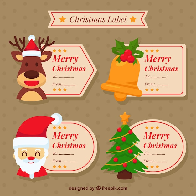 Lovely pack of funny christmas labels