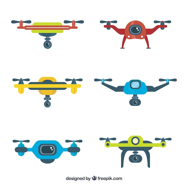 Lovely pack of modern drones