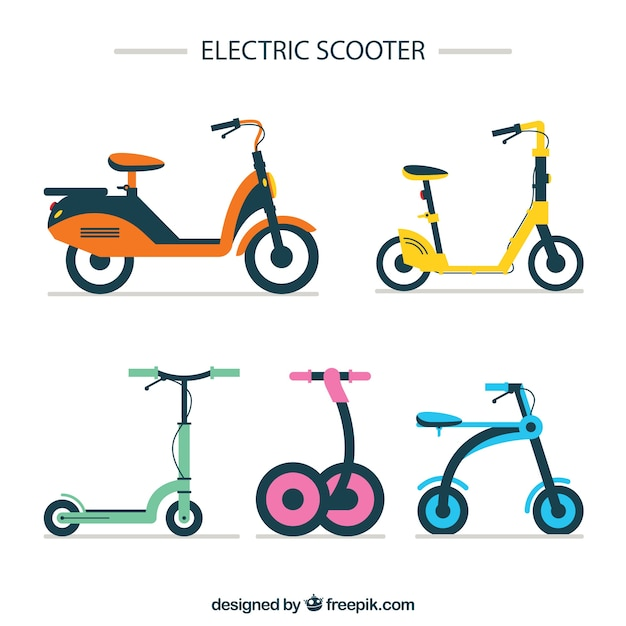 Lovely pack of modern scooters
