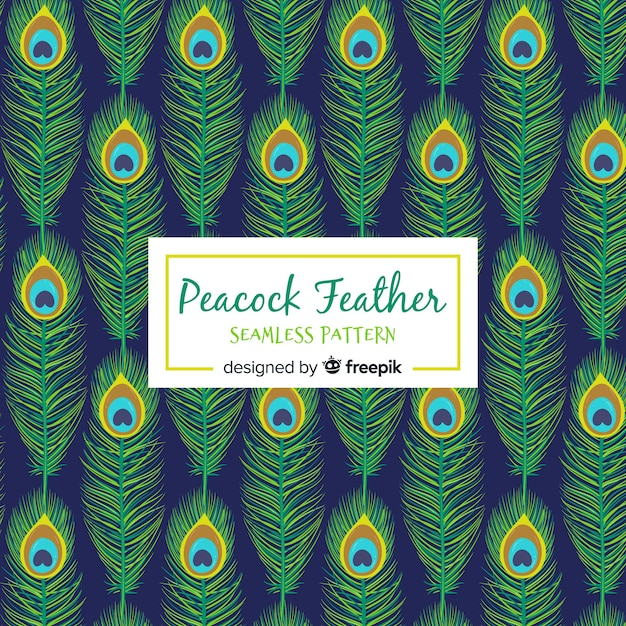 Lovely peacock feather pattern Free Vector