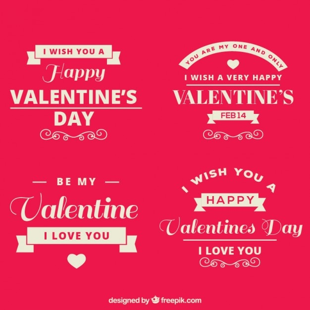 Lovely phrases for valentine day Vector | Free Download