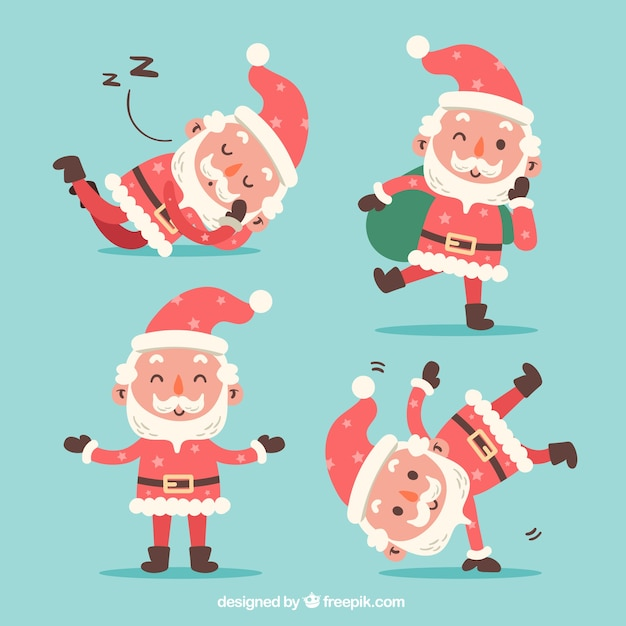 Lovely santa claus character in flat design