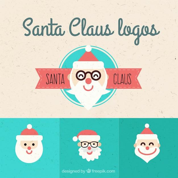 Lovely Santa Claus logos