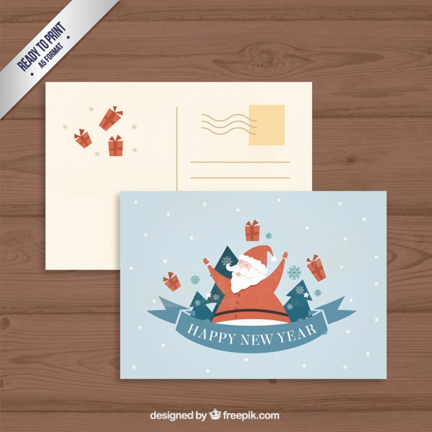 Lovely santa claus postcard
