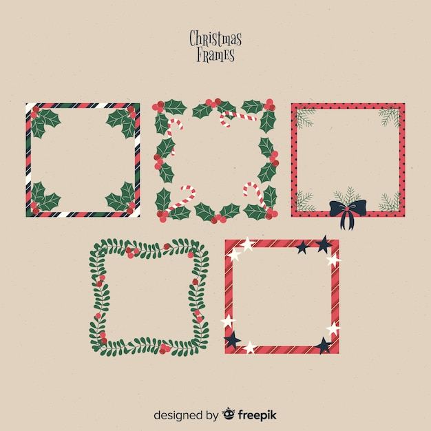 Lovely set of christmas borders and frames Vector | Free Download