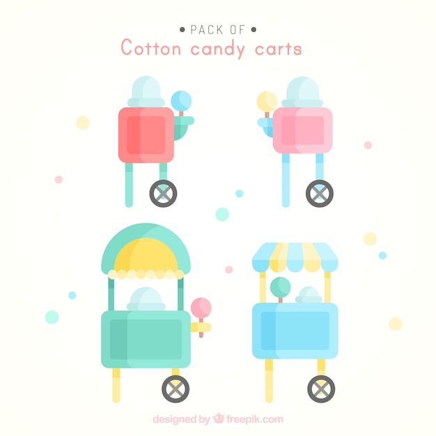 Lovely set of cotton candy carts