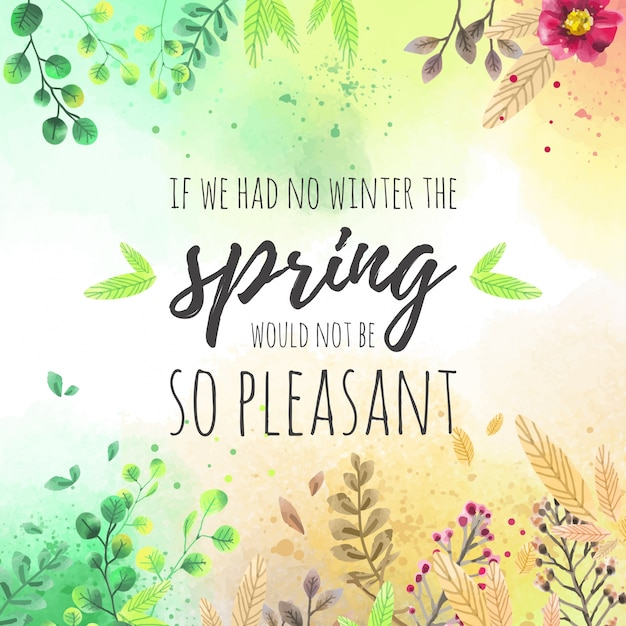 Lovely spring background Free Vector
