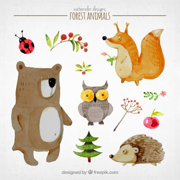 Lovely story animals set Free Vector