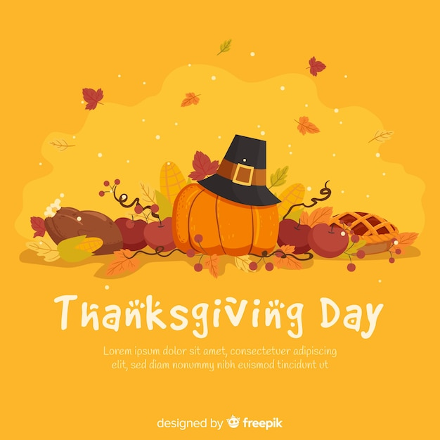 Lovely thanksgiving background Free Vector