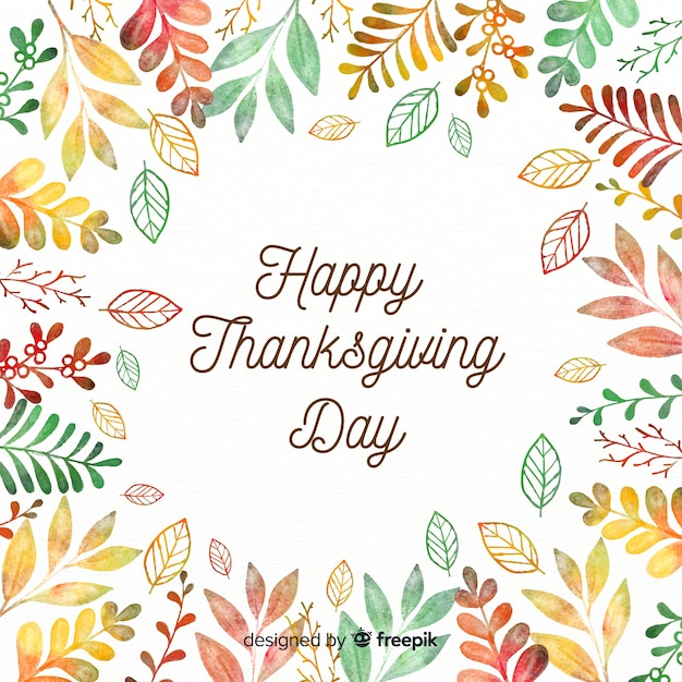 Lovely thanksgiving composition Free Vector