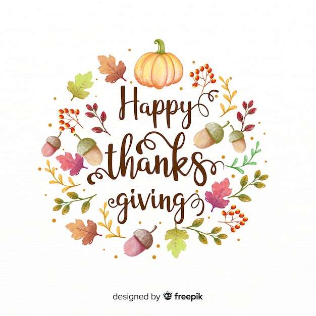 Free Vector Lovely Thanksgiving Day Composition